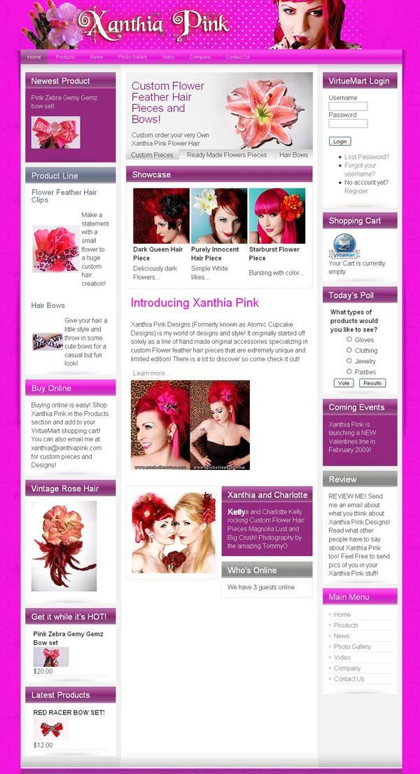 xanthia pink designs