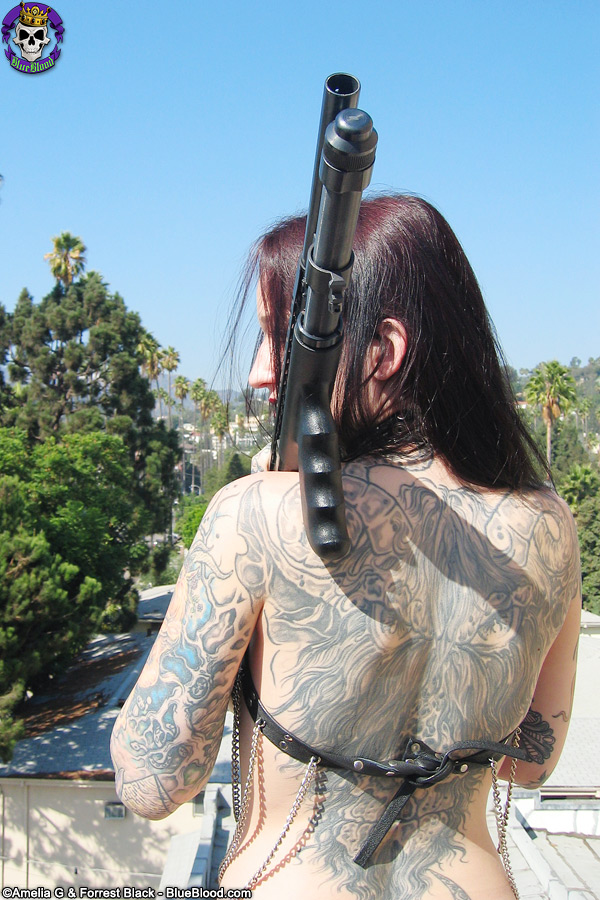 tattoo girls with guns