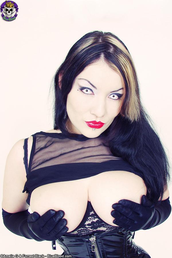 vamp dahlia dark shiny corset