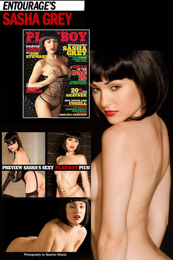 sasha grey october playboy magazine cover