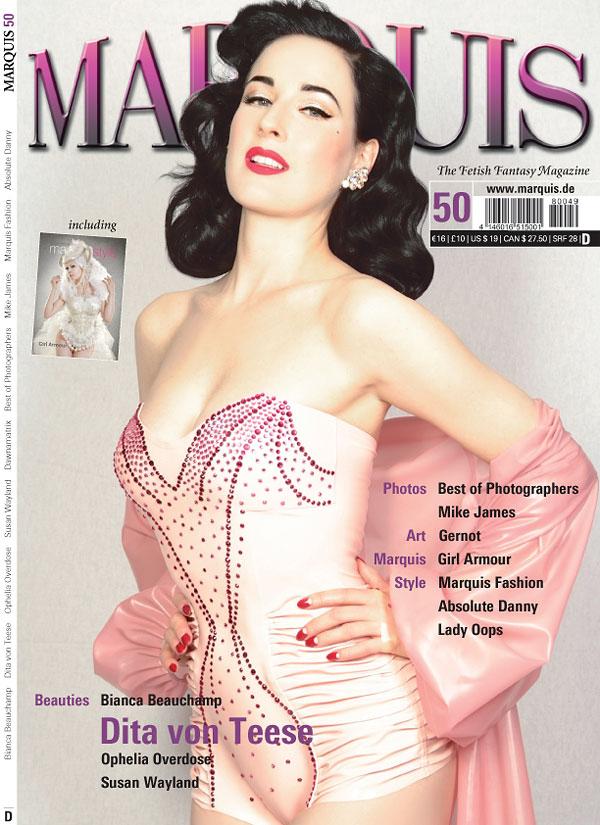 marquis 50 dita von teese magazine cover