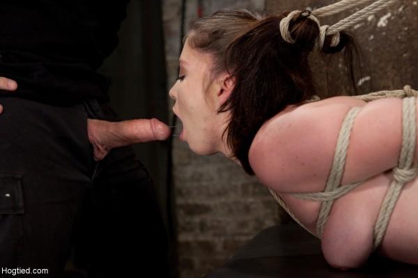Jessi Palmer pigtails hogtie blowjob