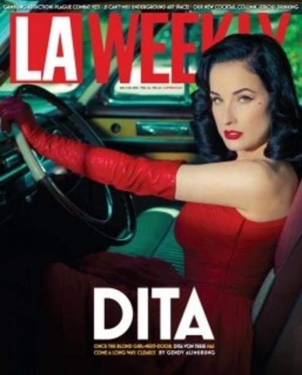 dita von teese la weekly laweekly cover