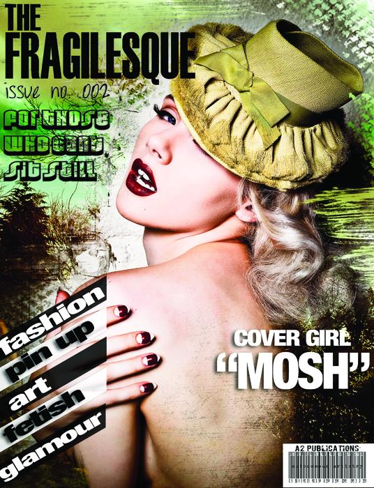 fragilesque issue 2 mosh magazine cover