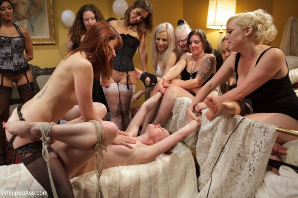 Happy Birthday BDSM Orgy, Justine Joli on Electrosluts and Whipped Ass!
