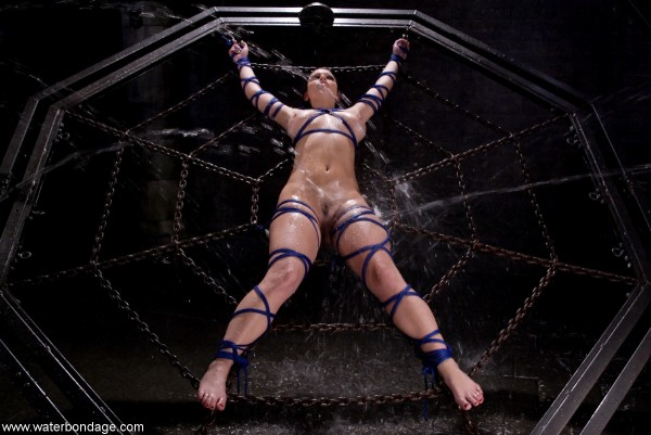 Aria Giovanni on Water Bondage