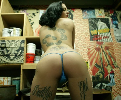 bella vendetta burningangel blue thong tattoo