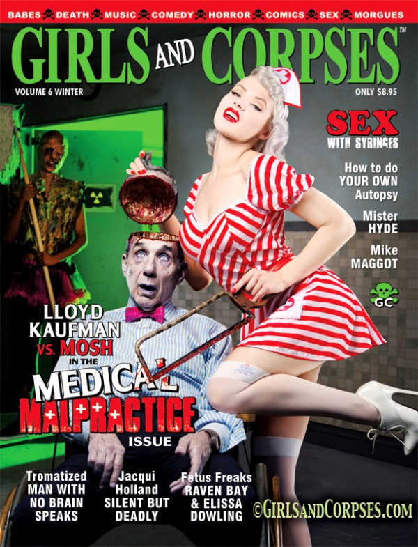 girls and corpses mosh magazine cover