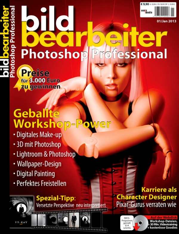 Mosh Bild Bearbeiter Photoshop Professional Magazine Cover