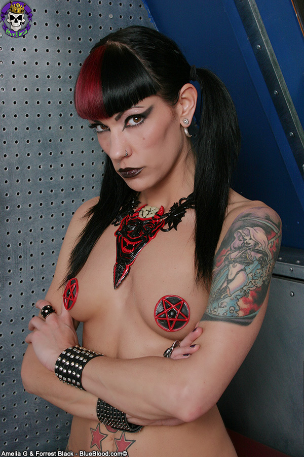 ms poisoness Blasphemy Day Satanist Pigtails