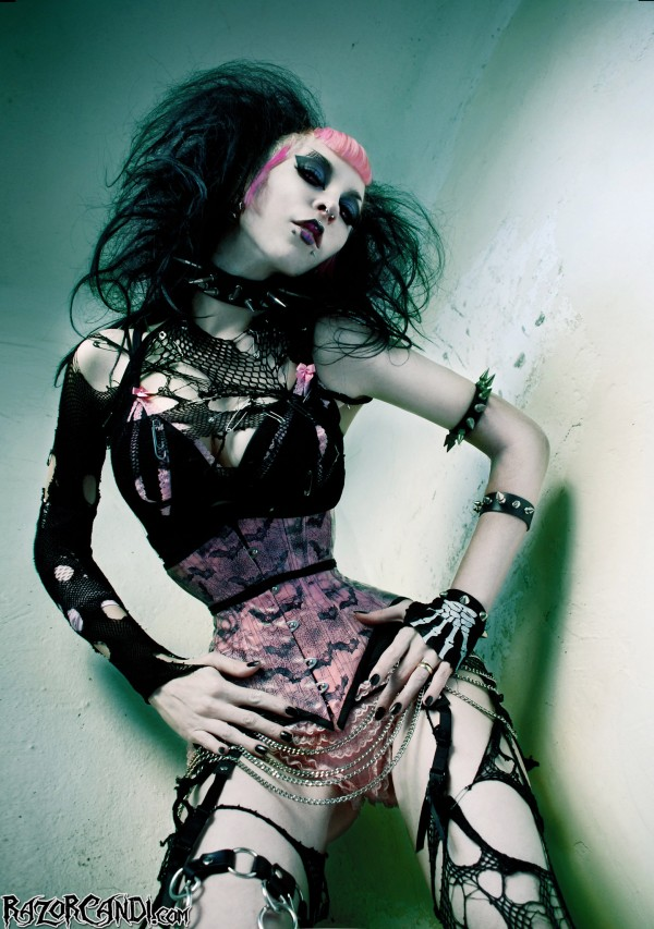 Razor Candi Gore Couture Deathrock Fashion