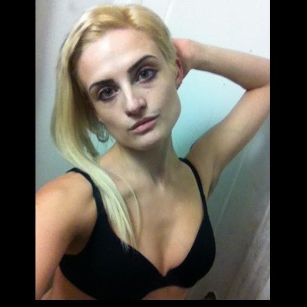 annika amour blonde lingerie cam