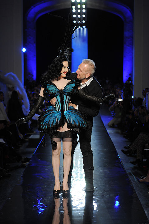Dita Von Teese in Jean Paul Gaultier Spring/Summer 2014 fashion show