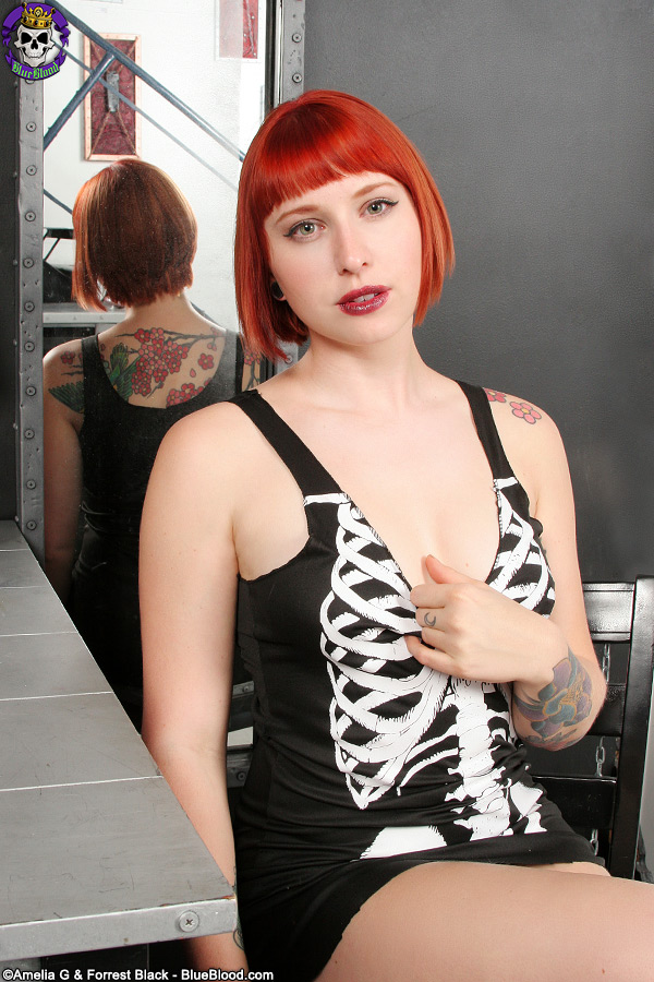 eidyia bone dress redhead