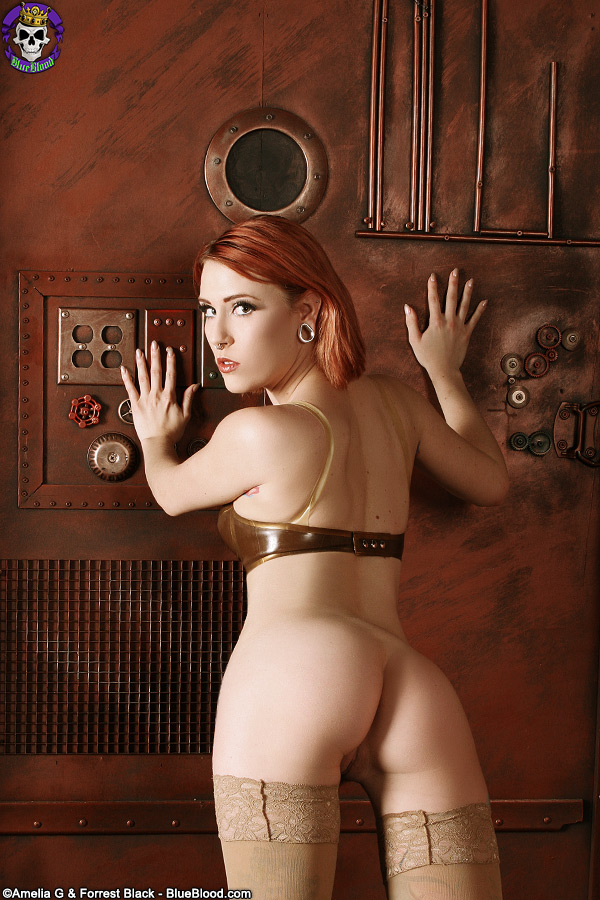 Anastassia Bear Steampunk Latex