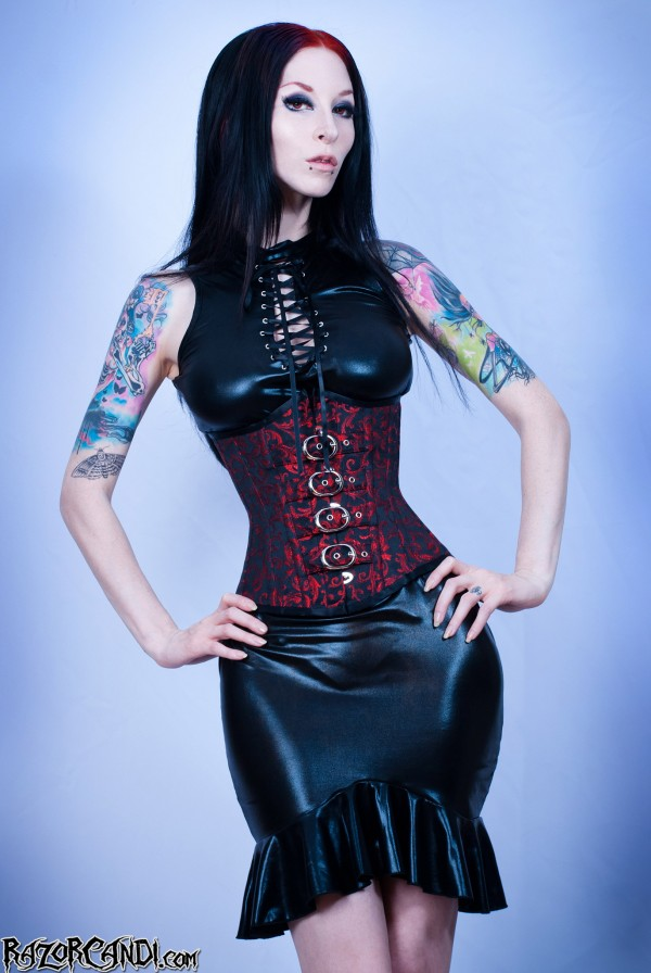 razor candi etherial threads corset