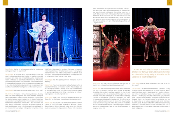Dita Von Teese, Mosh, and Lauren WK in Sinical Magazine from Danny Stygion
