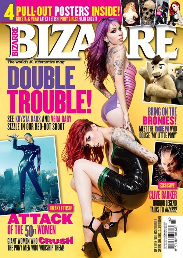 Krysta Kaos and Vera Baby Bizarre Magazine Cover