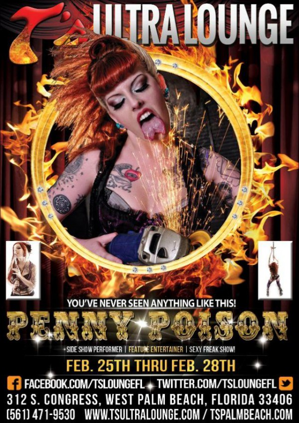 Penny Poison at Ts Ultra Lounge