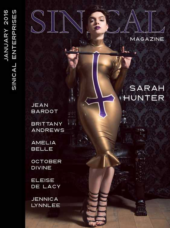 sarah hunter sinical magazine cover domination 2