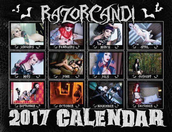 razorcandi 2017 calendar back cover