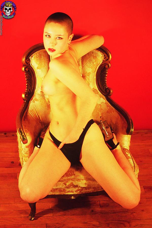 dasha red black ornate chair carlos batts blue blood