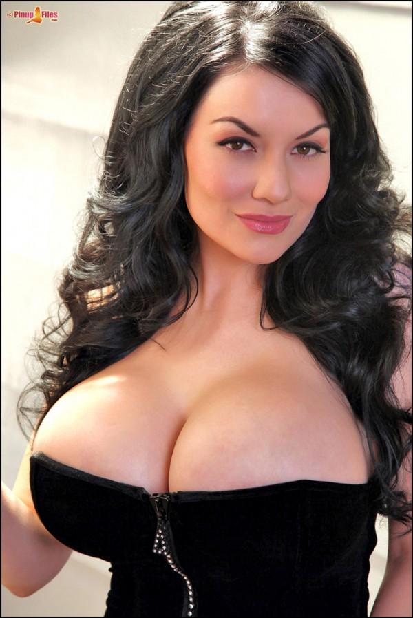 dahlia dark big boobs corset pinup