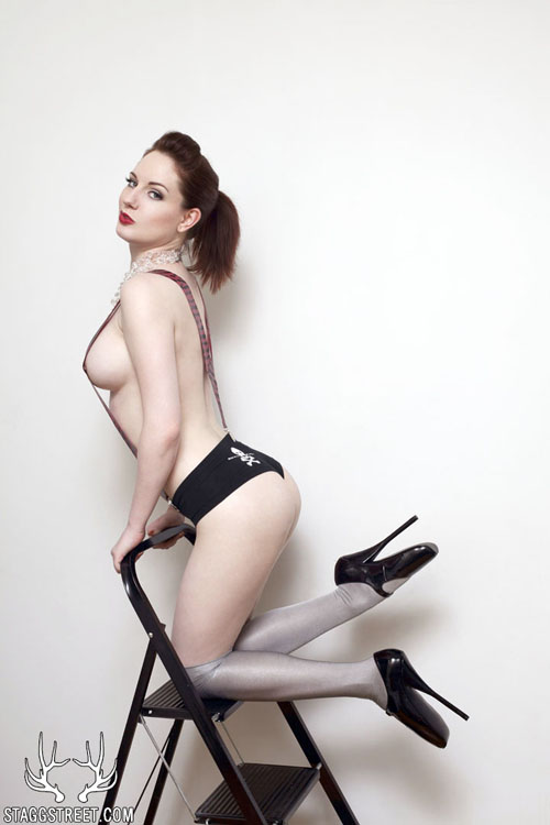 angela ryan with suspenders and toe shoes ballet shoe fetish