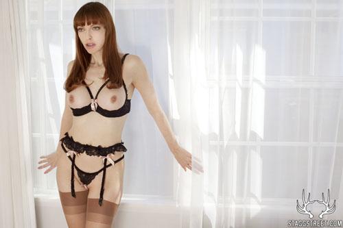 emily marilyn in skimpy lingerie