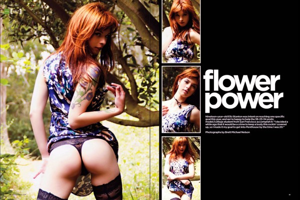 Penthouse Flower Power Eliz Stanton Lensed by Brett Nelson