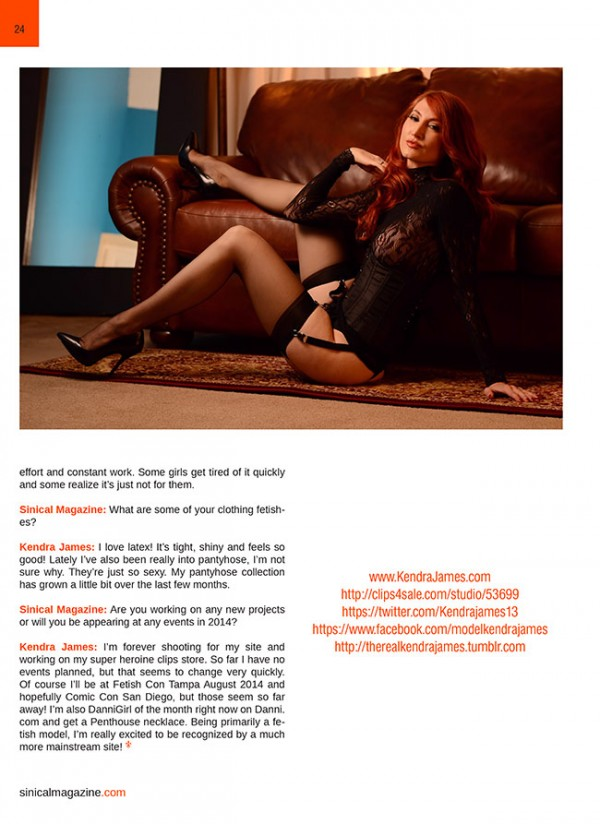 sinical magazine issue 12 kendra james interview