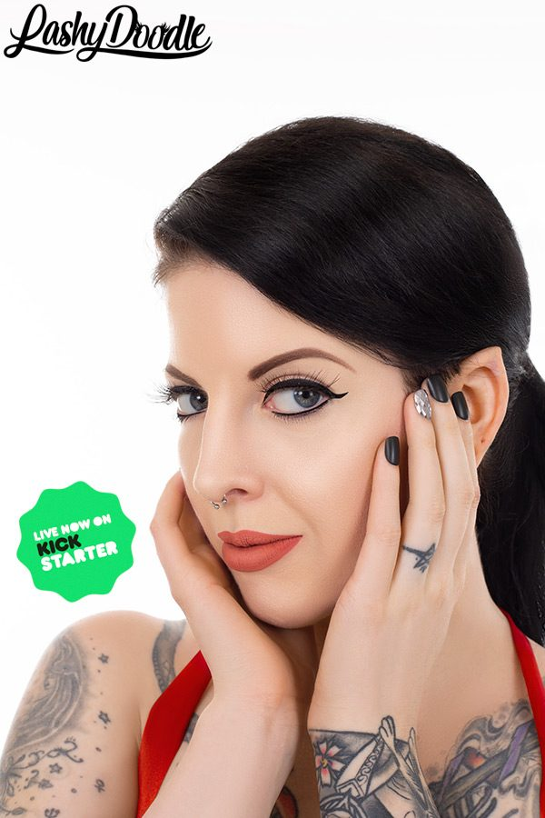 LashyDoodle Penny Poison Elf Ears and Eyelashes