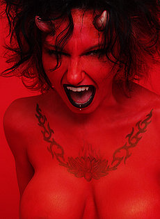 Blue Blood Barely Evil cute troublemakers  Tattooed and pierced big titty Devil girl