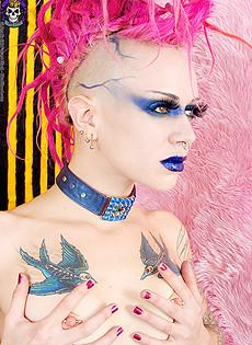Blue Bloods Barely Evil Punk altporn  punk chick plaid skirt high boots fetish bra naked