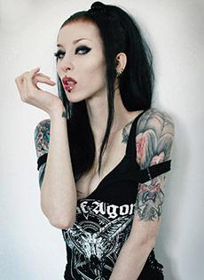 Blue Bloods Barely Evil Punk altporn  Razor Candi Black Metal