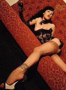 BlueBloods GothicSluts Vintage Gothic style smoking fetish queen
